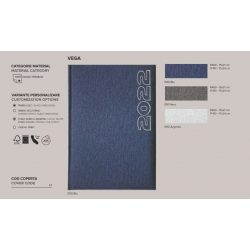 Agenda 2020 datata zilnic Vega 15 x 21 cm - [Albastru]