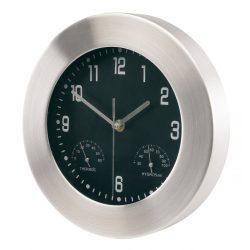 56-0401220 - Ceas de perete din aluminiu cu higro/termometru cu rama lata