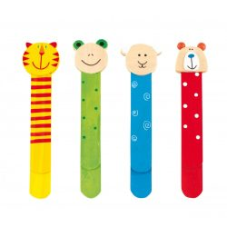 56-0501070 - Semne de carte Funny Animals din lemn