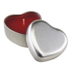 56-0902115 - Lumanare parfumata Good spirits de vanilie in cutie metalica in forma de inima