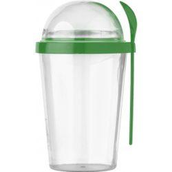 7296-29 - Pahar din plastic cu lingurita pentru mancare