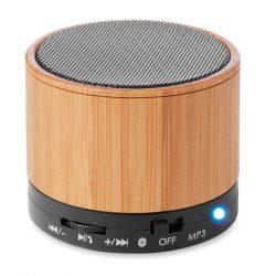 MO9608-03 - Boxa rotunda Bluetooth bambus - ROUND BAMBOO