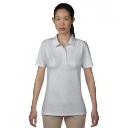 anL6280 - Tricou polo adult dama Anvil Double Pique [Heather Grey]