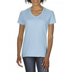 giL4100V - Tricou adult dama Gildan Premium Cotton [Light Blue]
