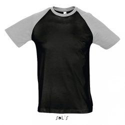 so11190 - Tricou adult barbat Sol's Funky [Black/Grey Melange]