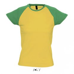 so11195 - Tricou adult dama Sol's Milky [Gold/Kelly Green]