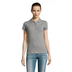 so11338 - Tricou polo adult dama Sol's Passion [Grey Melange]