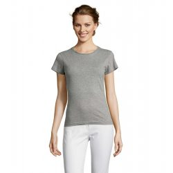 so11386 - Tricou adult dama Sol's [Grey Melange]